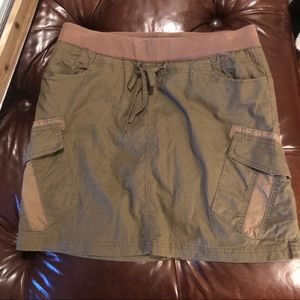 Prana linen mix skirt  Size medium